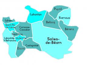 carte territoire d'action ADMR de Salies